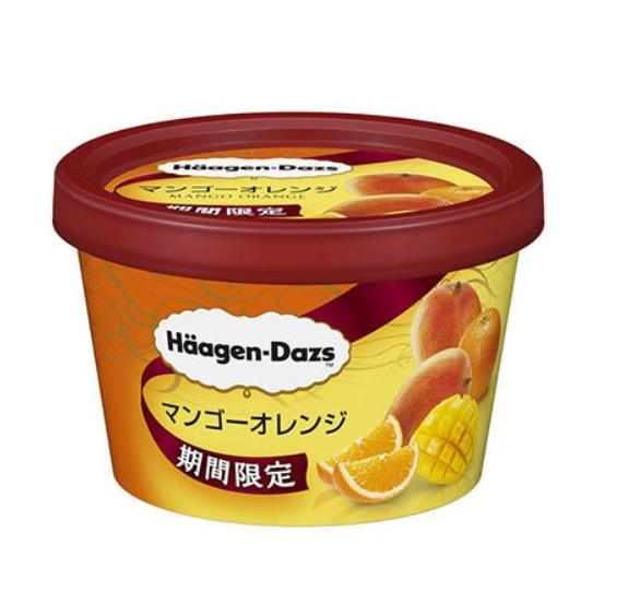 ハーゲンダッツの期間限定商品『マンゴーオレンジ』の画像